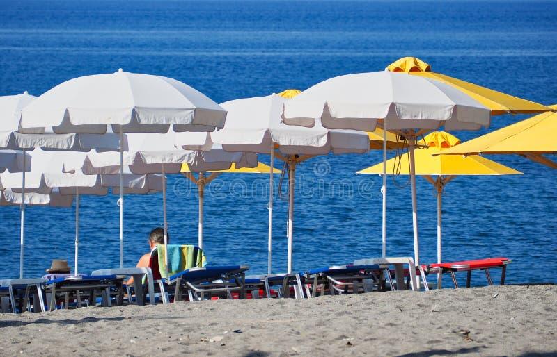 Ξημερώματα στην παραλία της Καλαμάτας, Πελοπόννησος, Ελλάδα στοκ εικόνες