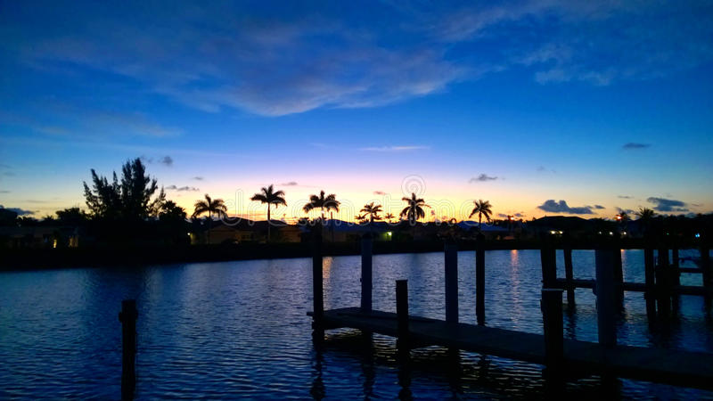 Ξημερώματα στους Florida Keys στοκ εικόνες με δικαίωμα ελεύθερης χρήσης