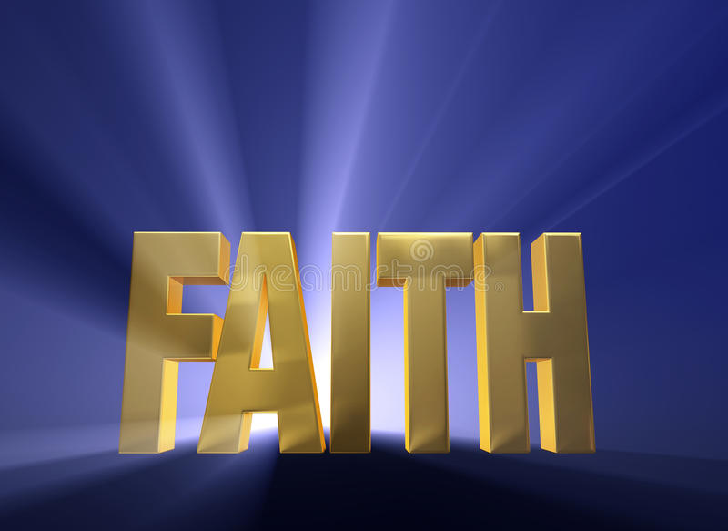 Ξημερώνοντας πίστη ελεύθερη απεικόνιση δικαιώματος