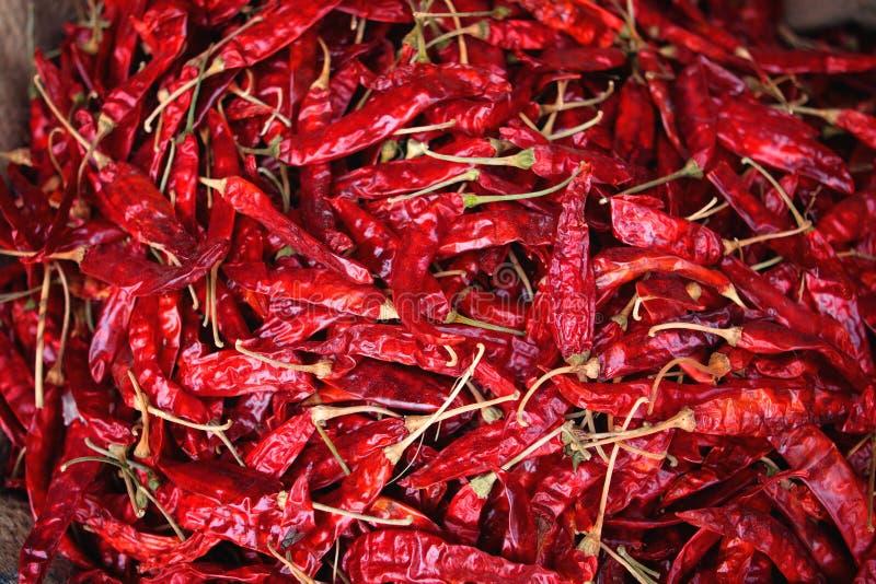 Ξηρά ασιατική αγορά καρυκευμάτων πιπεριών τσίλι στοκ φωτογραφίες με δικαίωμα ελεύθερης χρήσης
