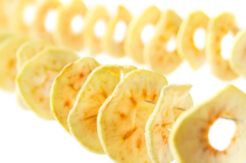 ξηρά δαχτυλίδια μήλων στοκ φωτογραφία