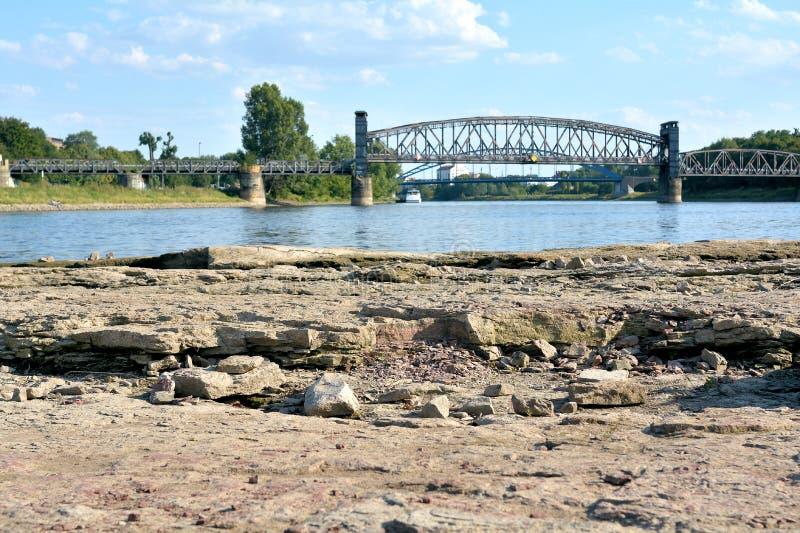 Ξηρά κοίτη ποταμού του Elbe στοκ εικόνες