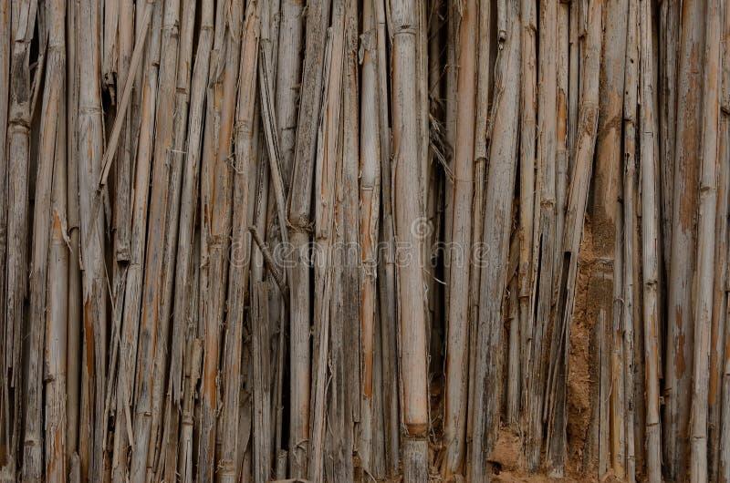 Ξηρά σύσταση καλάμων και αργίλου μιας καλύβας λάσπης καφετιού στενού ενός επάνω δομών στοκ εικόνες