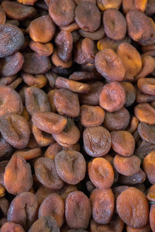 Ξηρά φρούτα βερίκοκων ως σύσταση υποβάθρου στοκ εικόνες