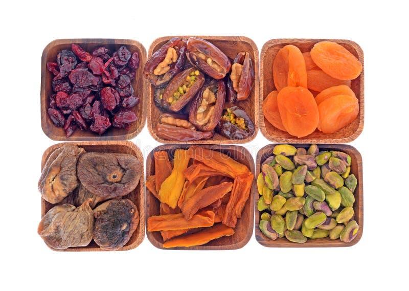 Ξηρά φρούτα και καρύδια στοκ εικόνες