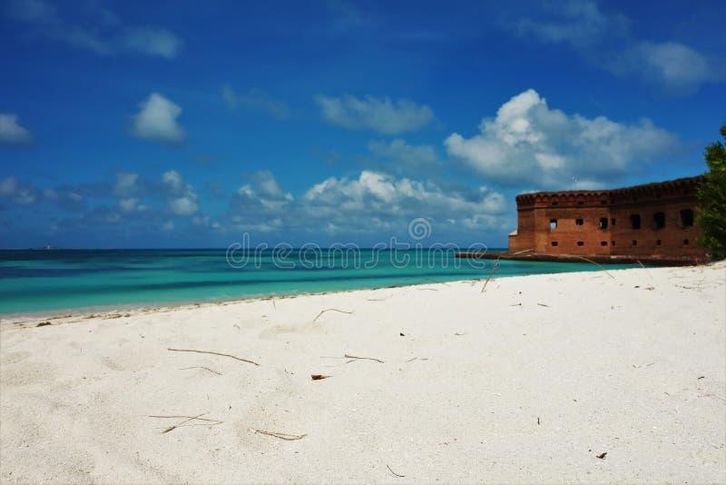 Ξηρά Tortugas εθνική φωτογραφία της δυτικής Φλώριδας πάρκων βασική στοκ φωτογραφία