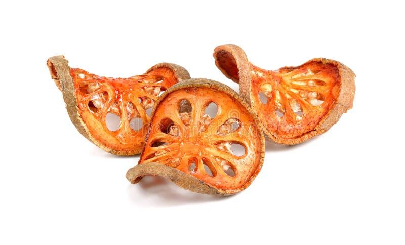 Ξηρές φέτες τσαγιού φρούτων δεμάτων που απομονώνονται στο άσπρο υπόβαθρο στοκ φωτογραφία