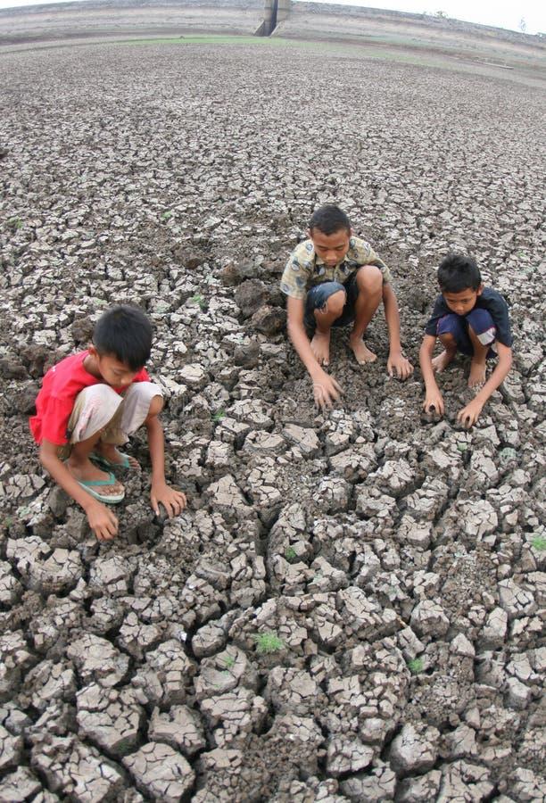 Ξηρασία στην Ινδονησία στοκ εικόνα