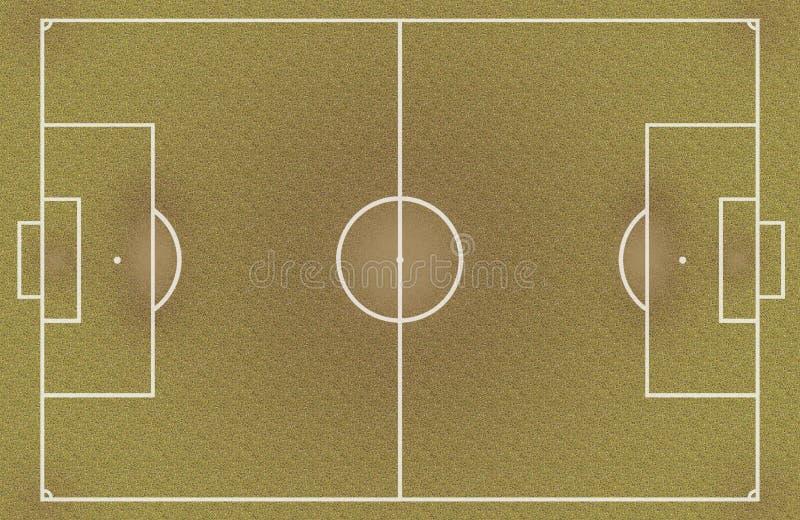 Ξηρός και βρώμικος τομέας ποδοσφαίρου απεικόνιση αποθεμάτων