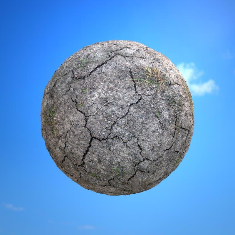 Ξηρός και ραγισμένος λίγος πλανήτης στοκ φωτογραφία με δικαίωμα ελεύθερης χρήσης