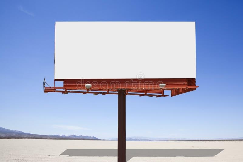 Ξηρός πίνακας διαφημίσεων ερήμων λιμνών στοκ εικόνα