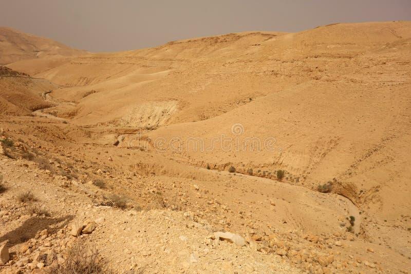 Ξηρός ποταμός στην Ιορδανία στοκ φωτογραφία