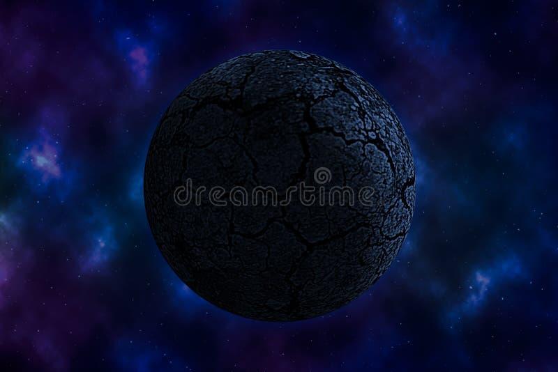 Ξηρός πλανήτης στο διάστημα απεικόνιση αποθεμάτων