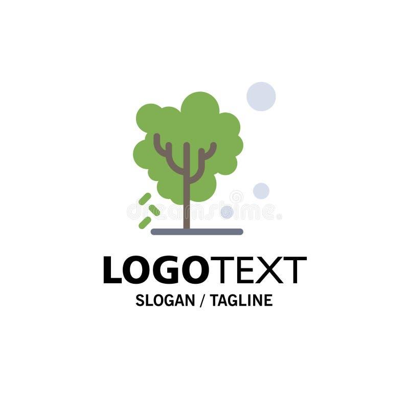 Ξηρός, σφαιρικός, χώμα, δέντρο, θερμαίνοντας πρότυπο επιχειρησιακών λογότυπων Επίπεδο χρώμα διανυσματική απεικόνιση