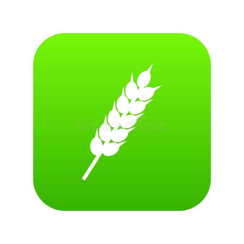 Ξηρός ψηφιακός πράσινος εικονιδίων αυτιών σίτου απεικόνιση αποθεμάτων