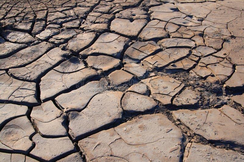 Ξηρό και ραγισμένο έδαφος, καμία βροχόπτωση στοκ φωτογραφία με δικαίωμα ελεύθερης χρήσης