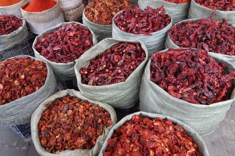 Ξηρό κόκκινο πιπέρι στοκ εικόνα