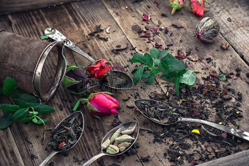 Download ξηρό τσάι φύλλων στοκ εικόνες. εικόνα από assuage, συλλογή - 62718564