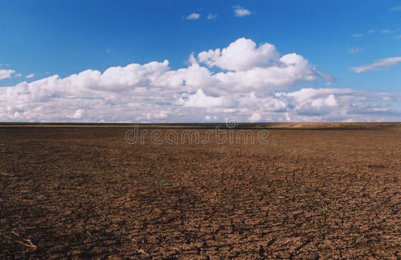 Ξηρό φράγμα σε ένα αγροτικό αγρόκτημα στην Αυστραλία στοκ φωτογραφία