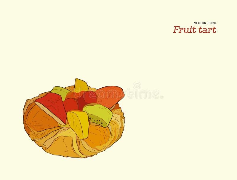 Ξινό διάνυσμα ζύμης φρούτων μιγμάτων απεικόνιση αποθεμάτων