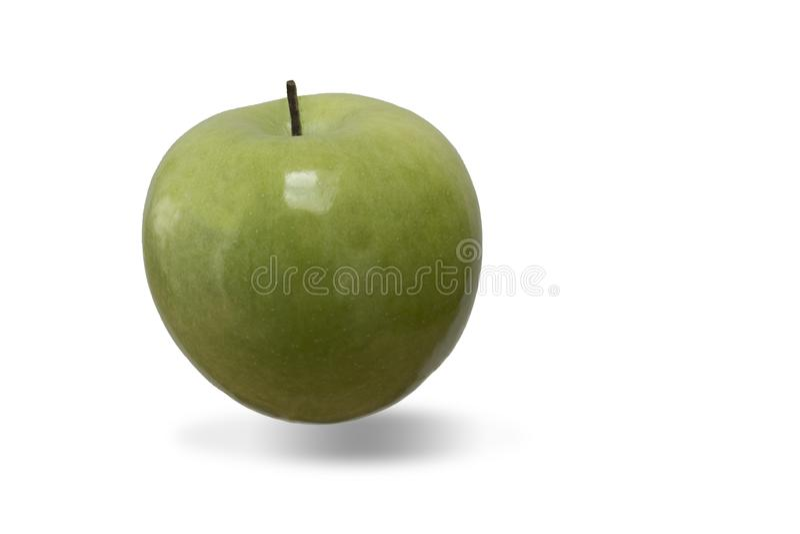 Ξινό πράσινο μήλο με μια σκιά στοκ φωτογραφίες με δικαίωμα ελεύθερης χρήσης