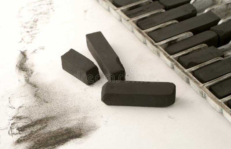 ξυλάνθρακας καλλιτεχνώ&n στοκ φωτογραφία με δικαίωμα ελεύθερης χρήσης