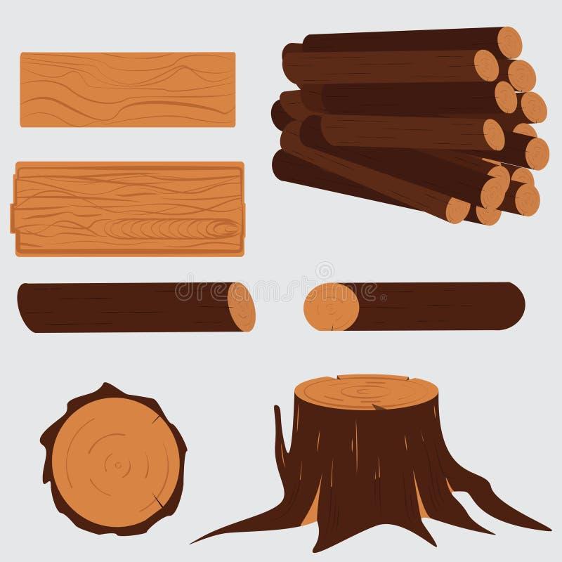 Ξυλεία δέντρων Ξύλινος απεικόνιση αποθεμάτων