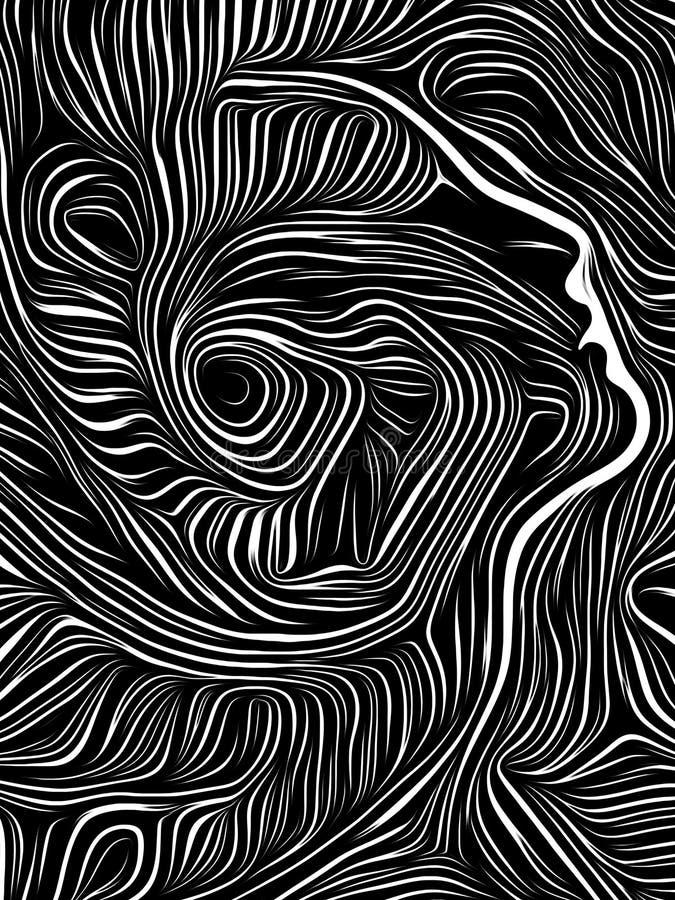 Ξυλογραφία δίνης εγκεφάλου ελεύθερη απεικόνιση δικαιώματος