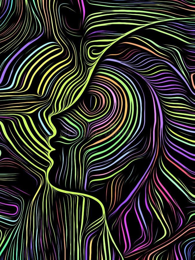 Ξυλογραφία στροβίλου εγκεφάλου ελεύθερη απεικόνιση δικαιώματος