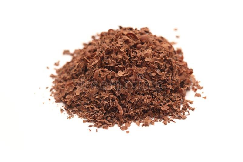 Ξυμένος σωρός σοκολάτας στοκ εικόνες με δικαίωμα ελεύθερης χρήσης