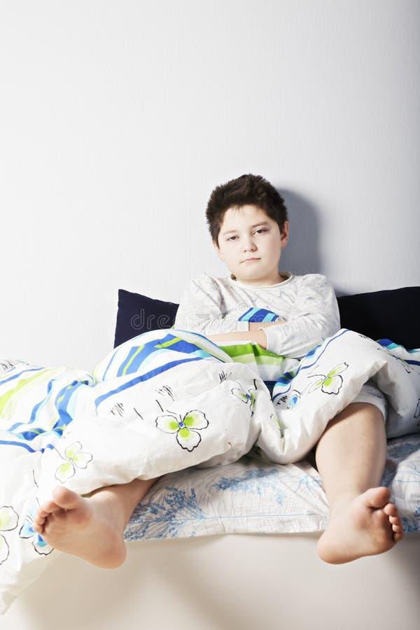 Ξυπνημένο αγόρι στοκ φωτογραφίες