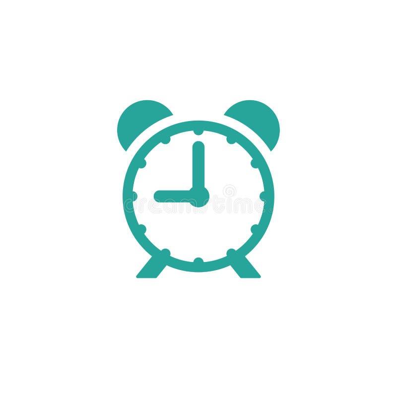 Ξυπνητήρι, ξυπνήστε χρονικό εικονίδιο μπλε ρολόι με το τέταρτο ελεύθερη απεικόνιση δικαιώματος