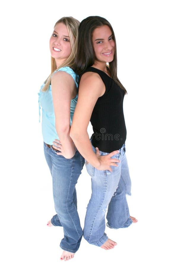 Download ξυπόλυτοι καλύτεροι φίλοι πέρα από το λευκό Στοκ Εικόνες - εικόνα: 107360