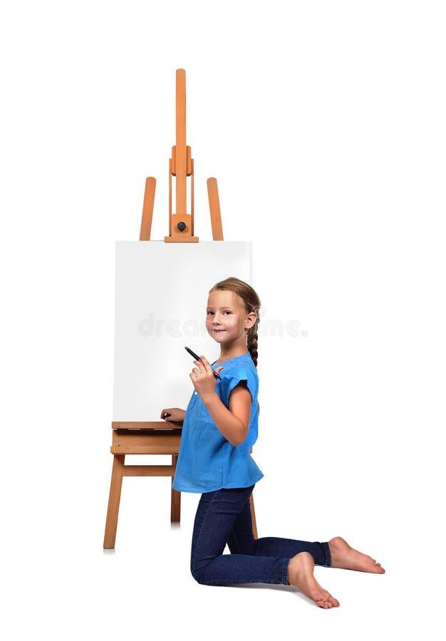 Ξυπόλυτο σχέδιο μικρών κοριτσιών στοκ φωτογραφίες με δικαίωμα ελεύθερης χρήσης