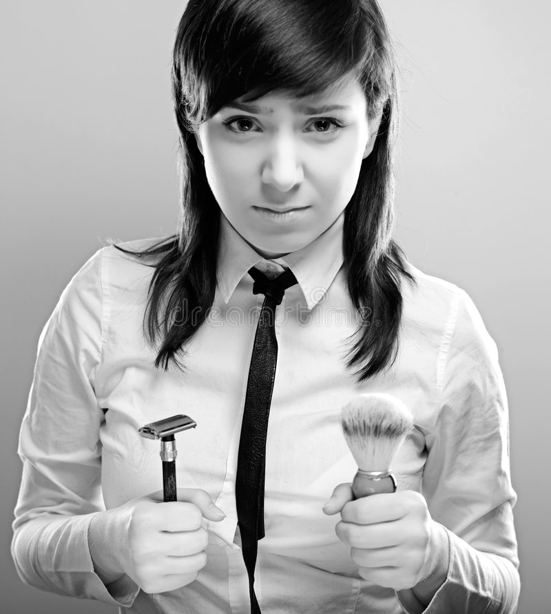 ξυρίζοντας γυναίκα στοκ εικόνες με δικαίωμα ελεύθερης χρήσης