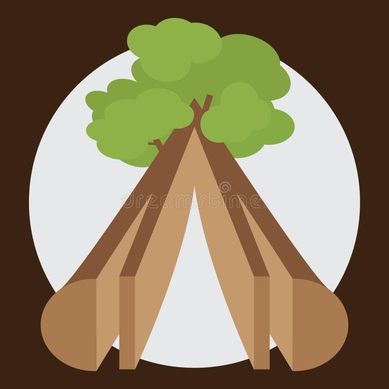 Ξυλεία από το ξύλο απεικόνιση αποθεμάτων