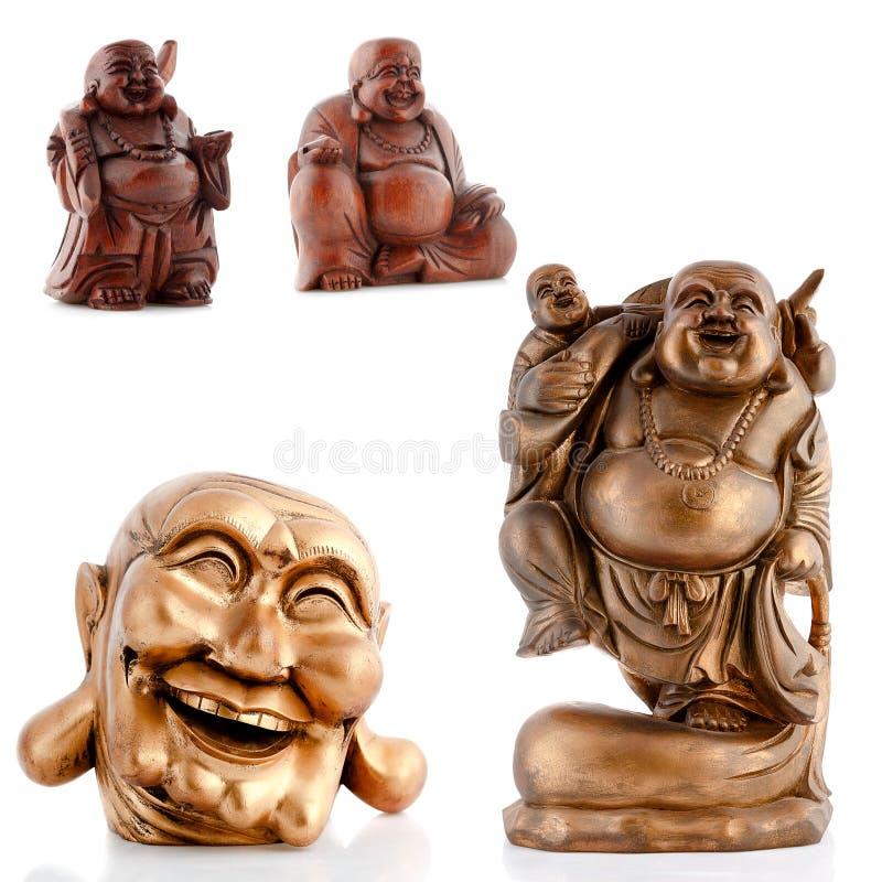 Ξύλινα ειδώλια, διακοσμητικά ειδώλια, Βούδας, μοναχός στοκ εικόνες