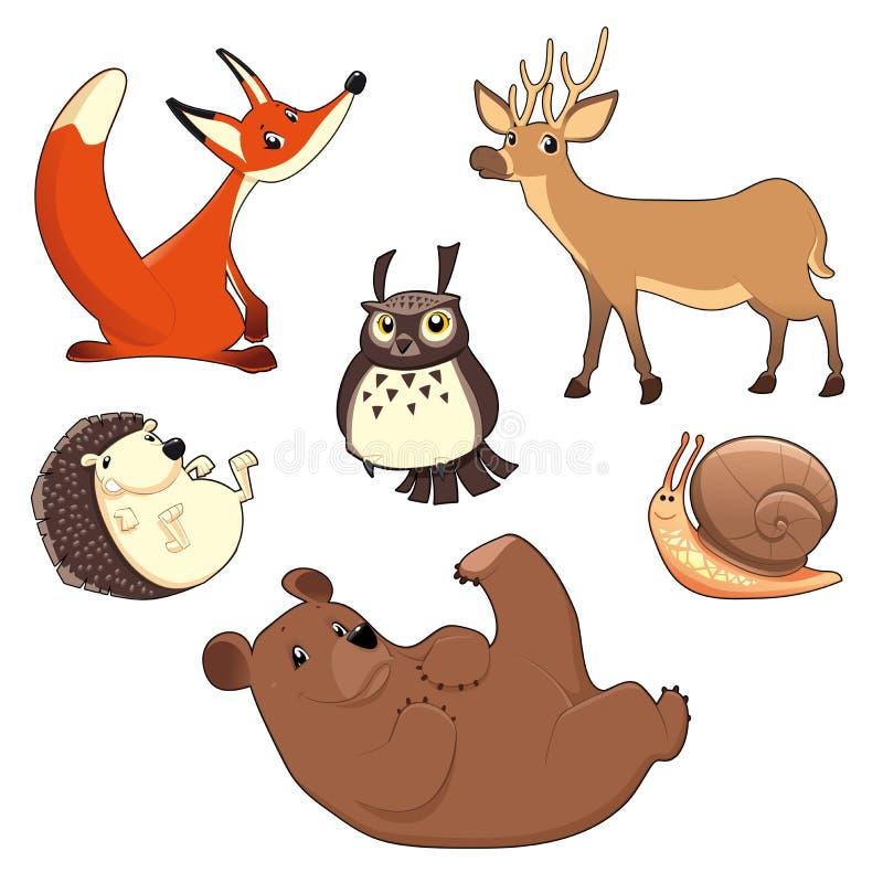 Ξύλινα ζώα διανυσματική απεικόνιση