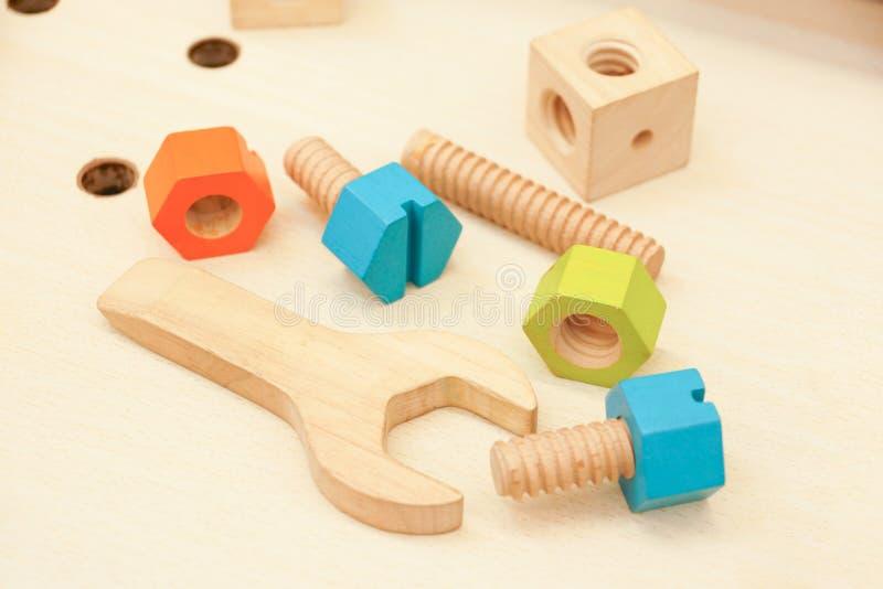 Ξύλινα παιχνίδια εργαλείων στοκ εικόνες