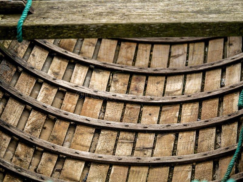 Ξύλινα σύσταση και σχέδιο ξυλείας πλευρών βαρκών στοκ εικόνες