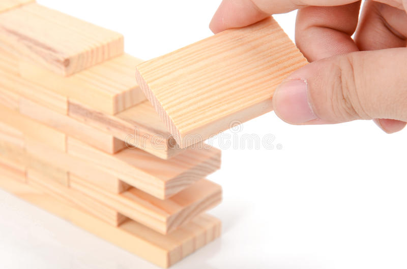 Ξύλινα τούβλα στοκ φωτογραφία