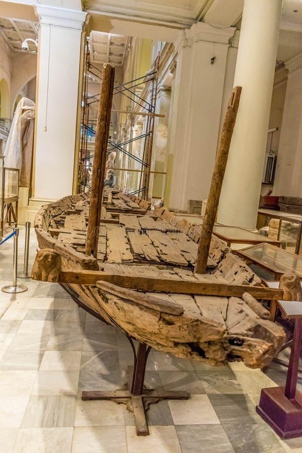 Ξύλινη βάρκα των αρχαίων Αιγυπτίων στοκ εικόνες