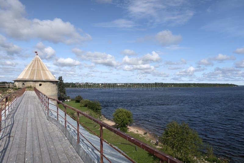 Ξύλινη γέφυρα των αρχαίων φρουρίων στοκ φωτογραφία με δικαίωμα ελεύθερης χρήσης