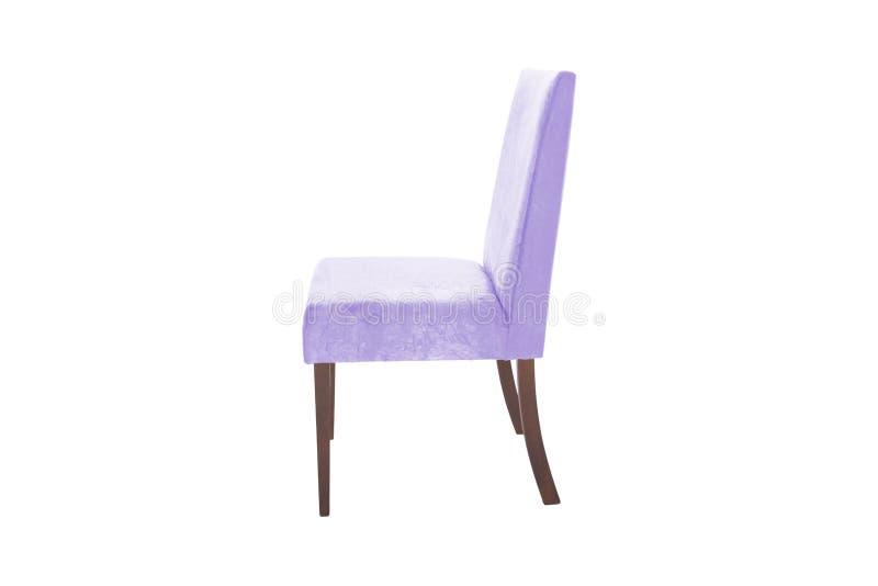 Ξύλινη καρέκλα χρώματος Αντικείμενο που απομονώνεται του λευκού στοκ εικόνες