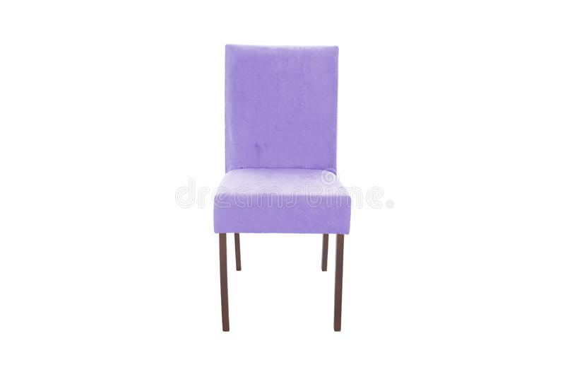 Ξύλινη καρέκλα χρώματος Αντικείμενο που απομονώνεται του λευκού στοκ φωτογραφία