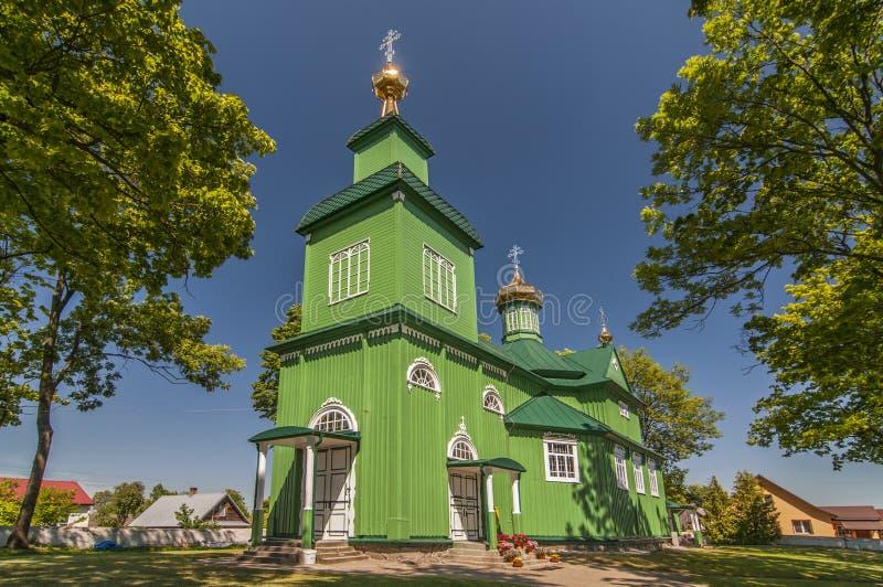 Ξύλινη Ορθόδοξη Εκκλησία σε Trzescianka, Πολωνία στοκ φωτογραφίες με δικαίωμα ελεύθερης χρήσης