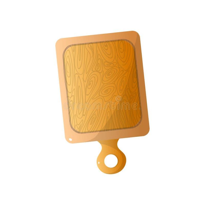 Ξύλινη σανίδα για bbq το χρόνο, το εργαλείο ή τον εγχώριο εξοπλισμό απεικόνιση αποθεμάτων