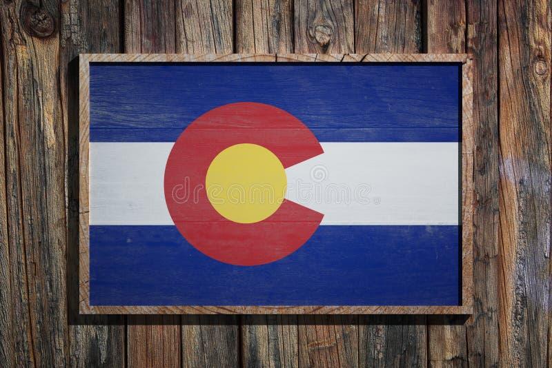 Ξύλινη σημαία του Κολοράντο απεικόνιση αποθεμάτων