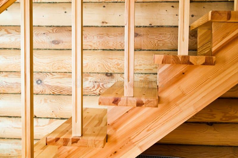 Ξύλινη σκάλα στοκ εικόνα
