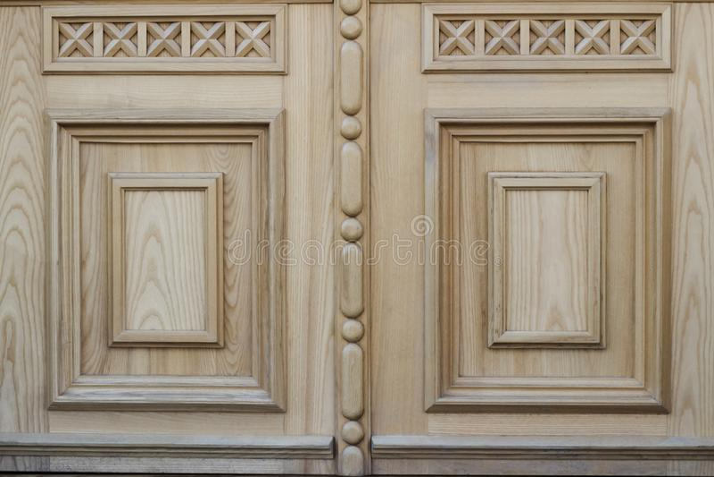 Ξύλινη σύσταση με το σχέδιο τεμάχιο της ξύλινης πόρτας στοκ εικόνες
